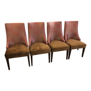 Armani Casa Fabric Upholstered Chairs - Set of 4