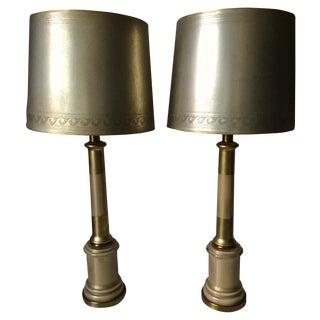 Paul Hansen Mid Century Eglomise Lamps