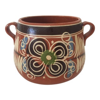 Vintage 1960s Mexican Terracotta Planter Urn
