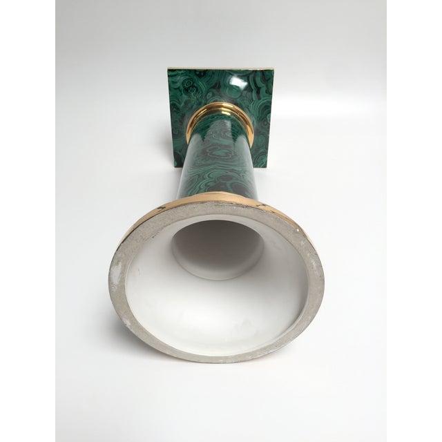 Italian Faux Malachite Pedestal - Image 8 of 8