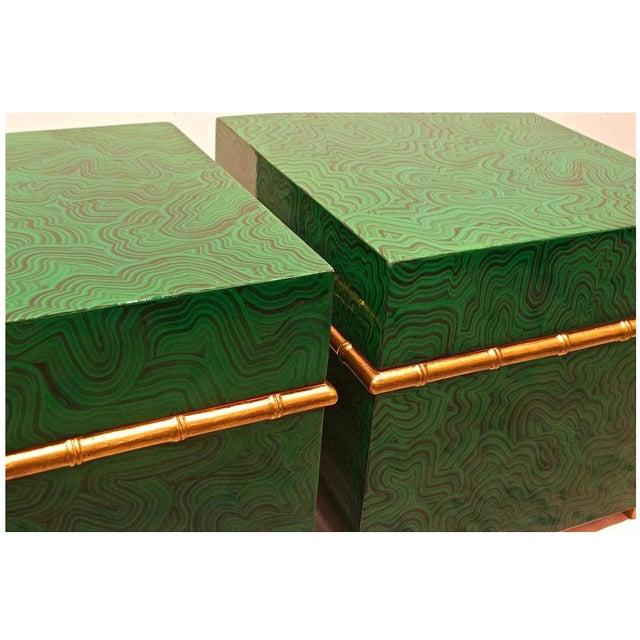 Faux Malachite Boxes - a Pair - Image 4 of 8