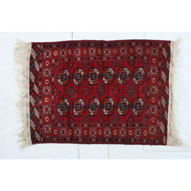 """Hand-Knotted Bokhara Rug - 2'10"""" X 4'5"""" - Image 2 of 3"""