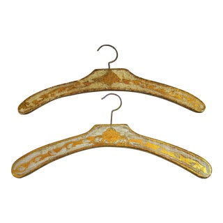 Vintage Florentine Wood Clothes Hanger - A Pair