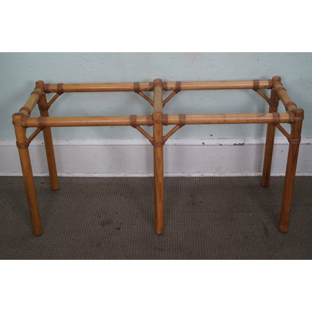 Vintage Faux Bamboo Console Table - Image 10 of 10