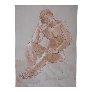 Signed Dated Ink Wash Drawing By Lois Davis