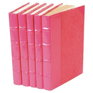 Pink Patent Leather Books - Set of 5