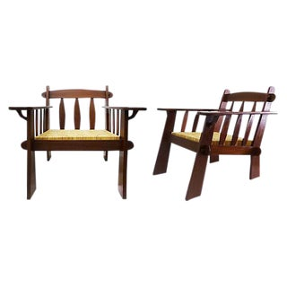 Arts & Crafts Style Teak Chairs - A Pair