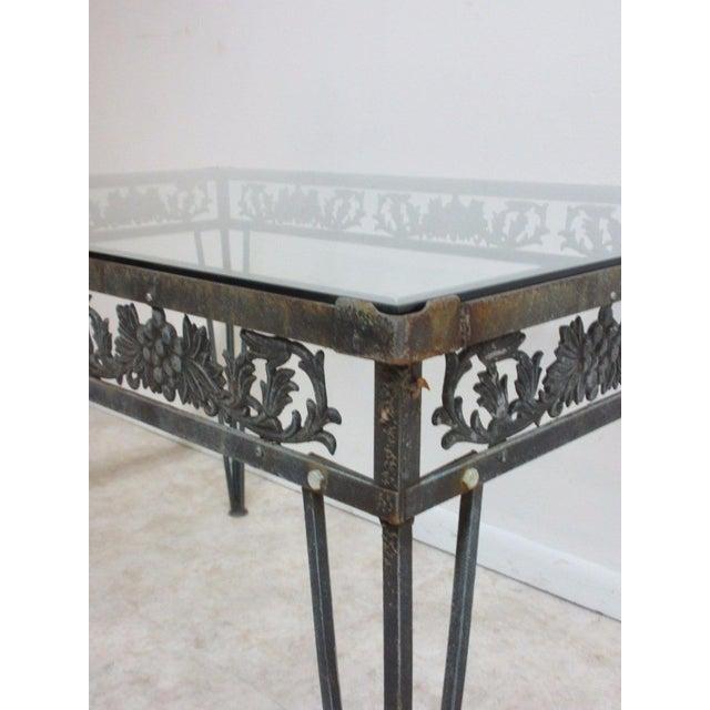 Vintage Outdoor Cast Aluminum Patio Porch Dining Table