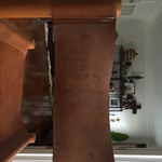 Image of Mid-Century Wood & Leather Chairs - A Pair