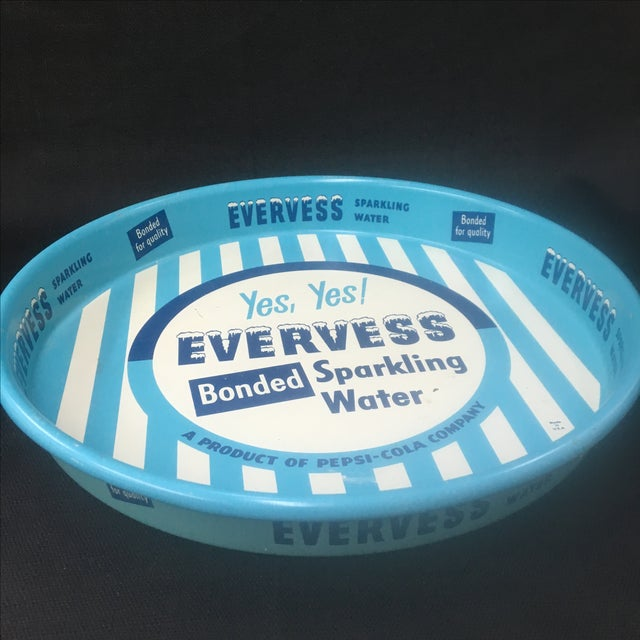 Image of Vintage Advertising Tray, Evervess 1950's