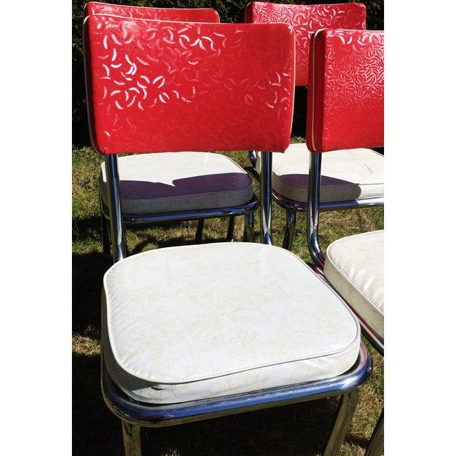 Chrome Kitchen Chairs: Vintage Vinyl Chrome Kitchen Chairs - Set Of 4