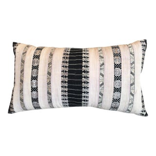 Silk Ribbon Tribal Textile Pillow