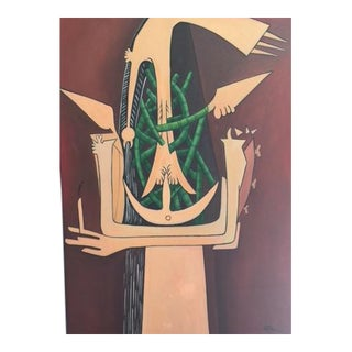 Painting in the Style of Wilfredo Lam
