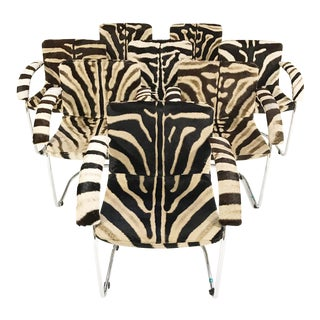 Giovanni Offredi for Saporiti Lens Chairs in Zebra - Set of 8