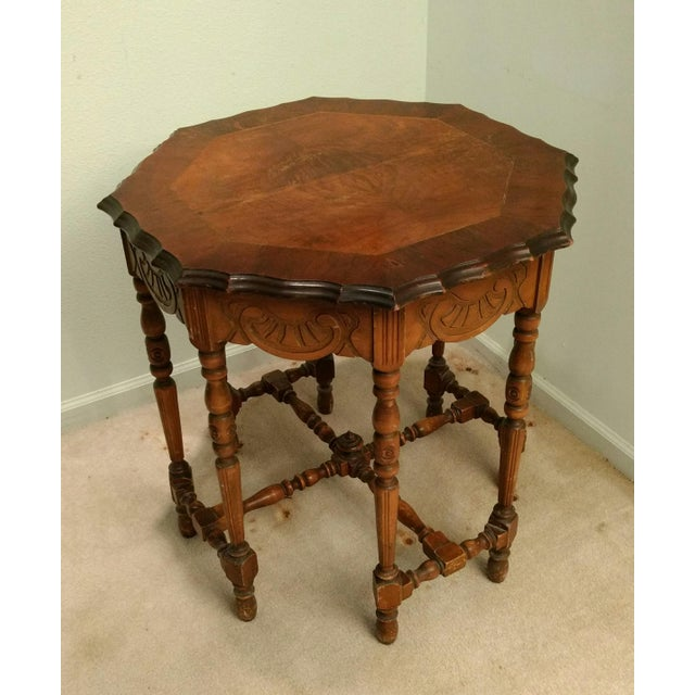 Antique Eight-Leg Octagonal Side Table - Image 2 of 4