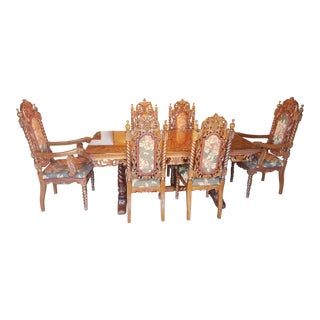Rare Antique Narra Wood Dining Set