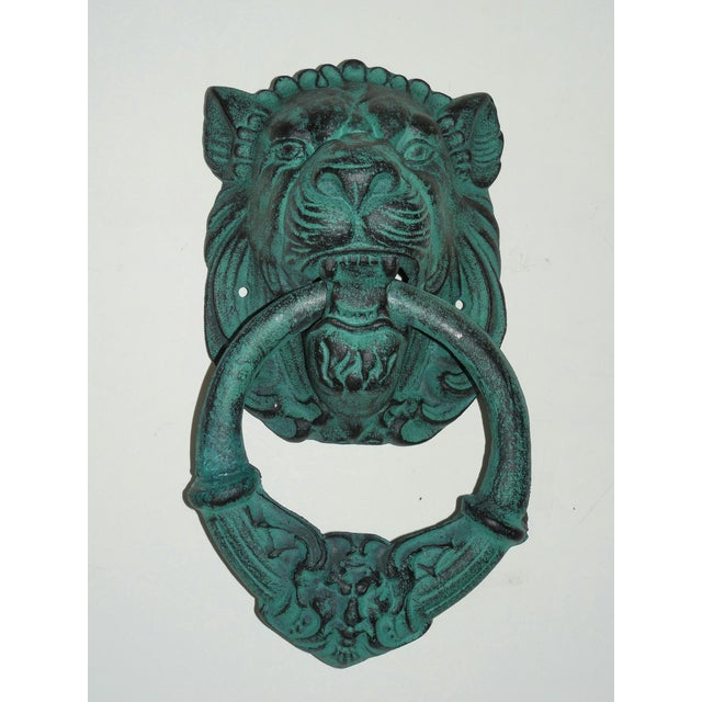 Verdigris Metal Lion's Head Ring - Image 2 of 7