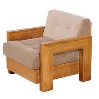 Vintage Modernist Oak Armchair