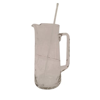 Glass Cocktail Pitcher With Stirring Rod