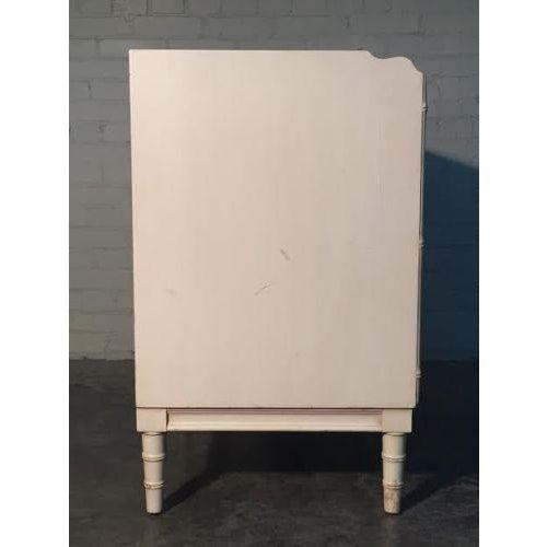 Image of Drexel Bambou Mid-Century Modern White Desk