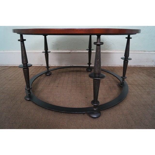 Baker Furniture Paris Coffee Table: Baker Furniture Iron Base Mahogany Coffee Table