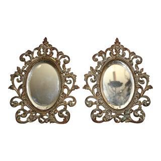 Acanthus Leaf Vanity Mirrors - A Pair