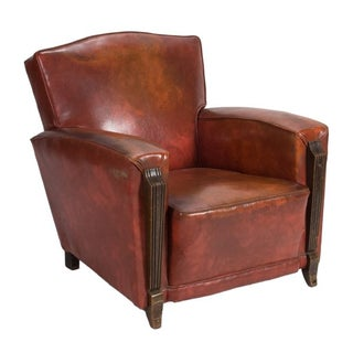 Antique French Brown Club Chair