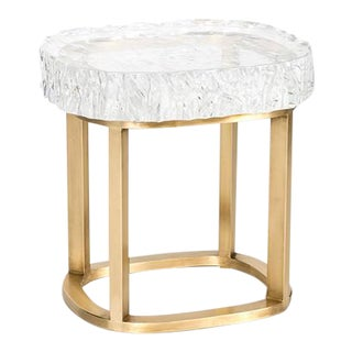 Glacier Brass Side Table