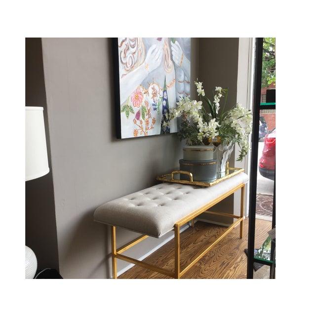 Century Furniture Modern Leg Bench - Image 5 of 5