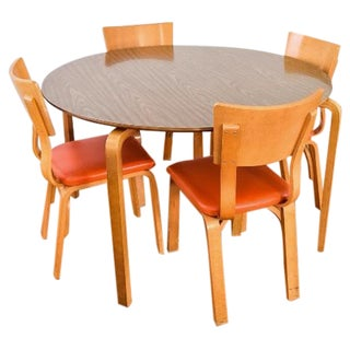 Mid-Century Thonet Bentwood Table & Chairs