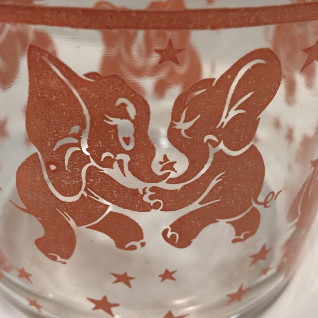 Vintage Hazel-Atlas Glass Pink Elephant Ice Bucket & Tongs - Image 11 of 11
