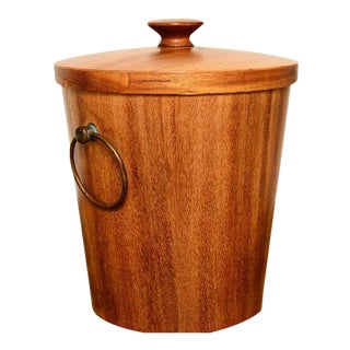 Mexican Modernist Mahogany Ice Bucket