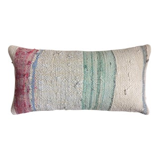 Pastel Striped Moroccan Berber Kilim Pillow Cover