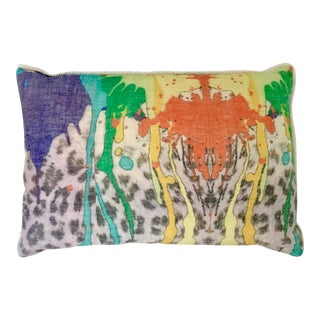 Abstract Handcrafted Linen Printed Pillow