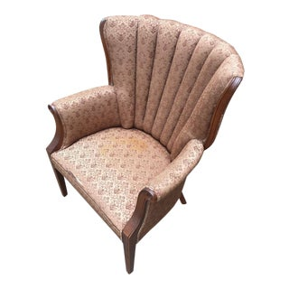 Hollywood Regency Channel Back Chair