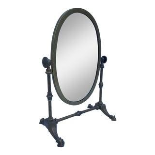 Vintage Oval Brass Vanity Mirror