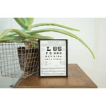 Image of Vintage Eye Chart Near Vision Exam Plaque