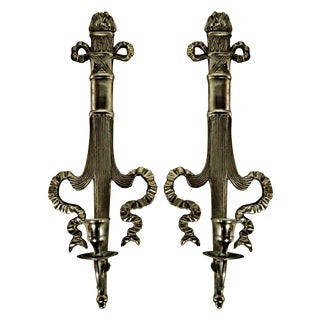 Neoclassical Style Candle Sconces - A Pair
