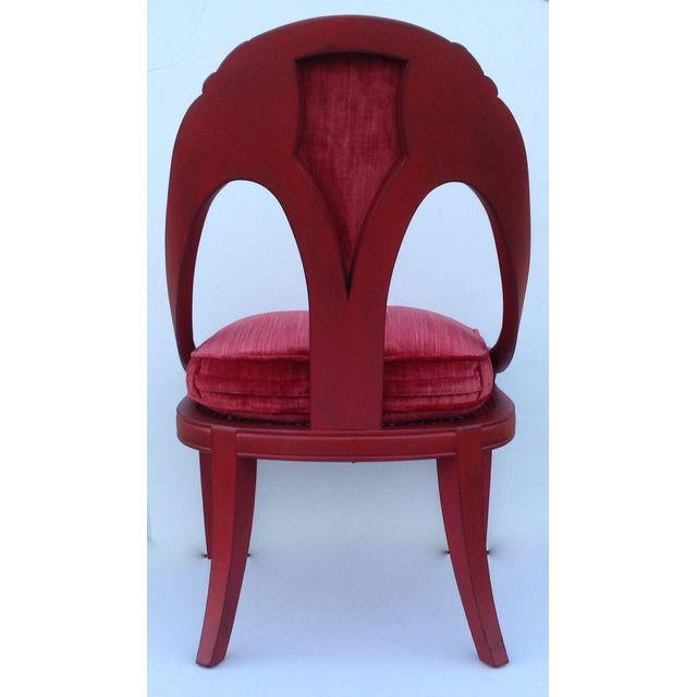 Hollywood Regency Spoon Back Chairs - A Pair - Image 7 of 10