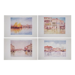 Antique Lithographs of Venice by M. Menges - Set of 4