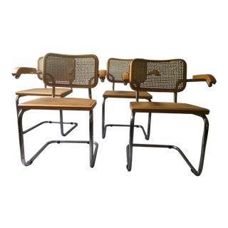 4 Breuer Cesca Bauhaus Modern Cane Chairs