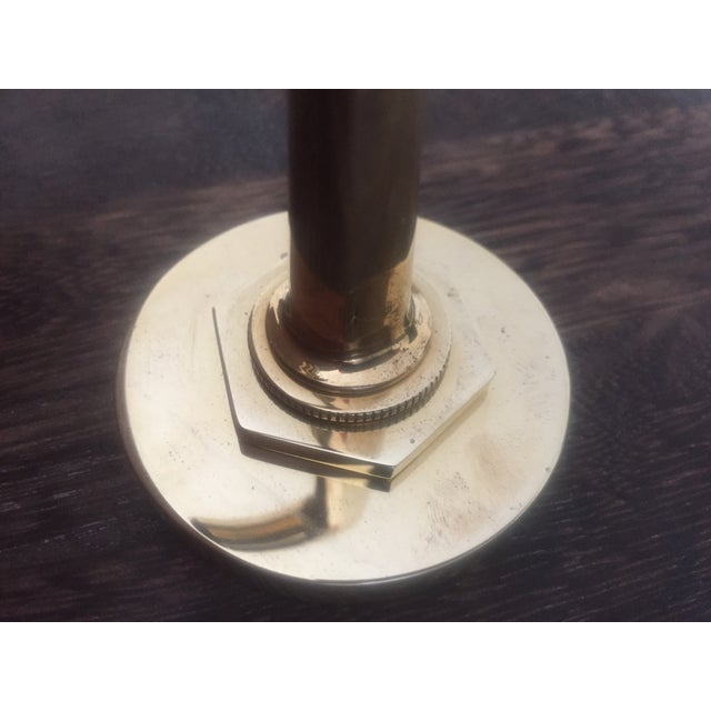 """Waterworks """"Henry"""" Unlacquered Brass Single Hook - Image 6 of 10"""