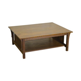 Stickley Mission Collection Oak Cocktail Coffee Table
