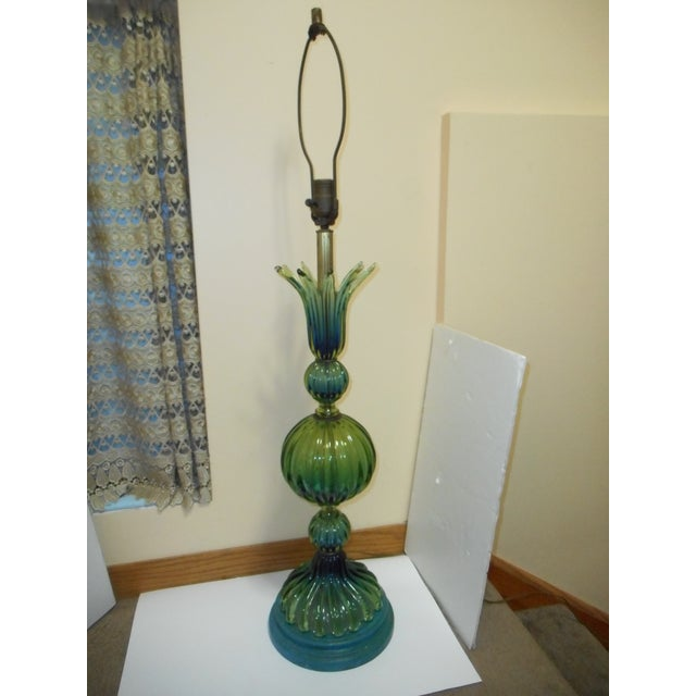 Murano Glass Lamp by Barovier Toso - Image 8 of 8