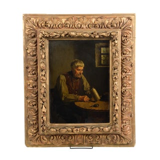 19th Century Dutch Oil Painting of a Silversmith