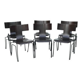 Donghia Anziano Mahogany Chairs - Set of 6
