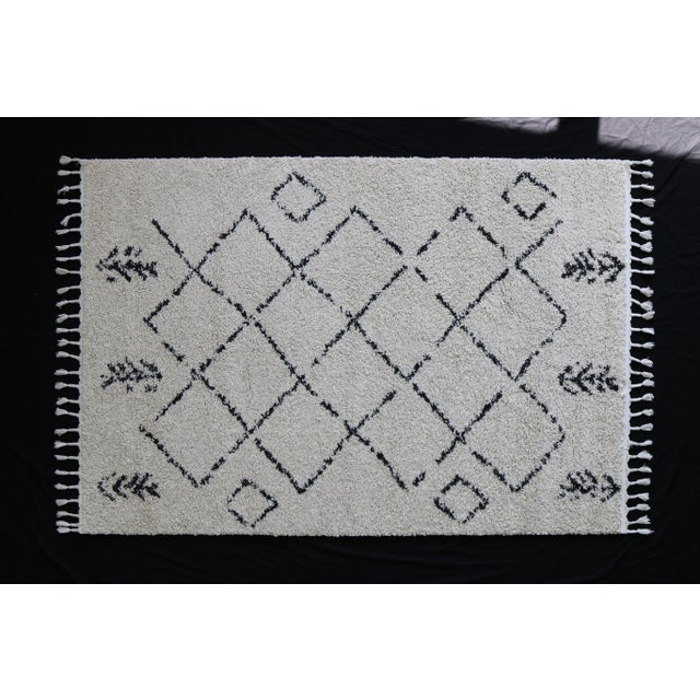 Contemporary Plush Rug with Moroccan Design - 8' x 11' - Image 3 of 9