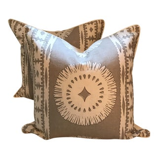 "24"" Mary McDonald Bora Pillows Sea Oyster - a Pair"