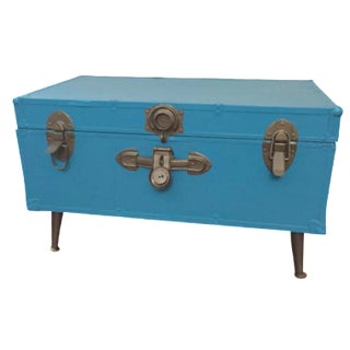 Blue Steamer Trunk Table