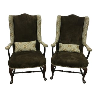Custom Suede & Upholstery Chairs - a Pair